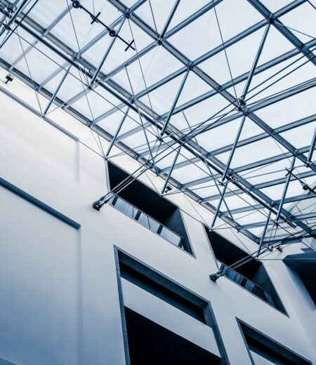 Modern Architectural Skylight Structure from Indoor a Building